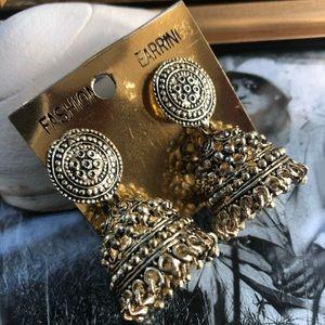 Indian Jewelry-Gold Bell earrings